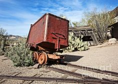 Goldfield Mining Car - photograph by Lee Craig. Fine art prints and posters for sale. #leecraig #fineartphotography #goldfieldmine