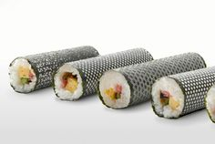 Photo: Design Sushi Nori Beautifully Laser-Cut Into Classic Japanese Patterns. #PrettySushi