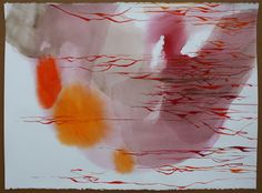 "Ana Zanic, ""Cloud Rouge"", 22""x30"", watercolor on paper"