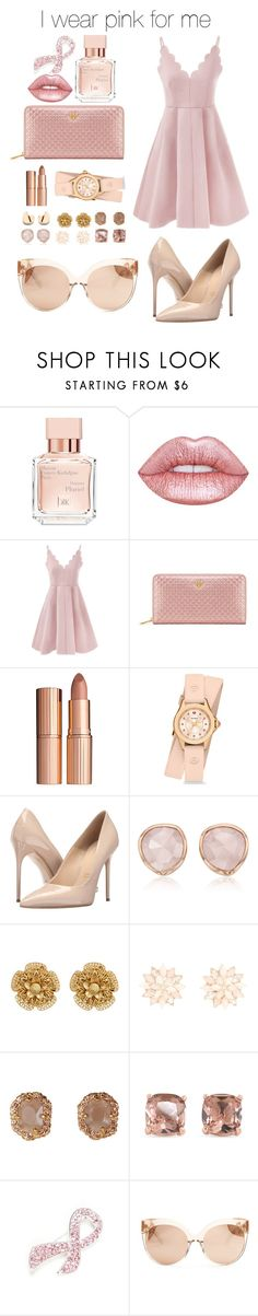"""I wear pink for me"" by arvidsson ❤ liked on Polyvore featuring Maison Francis Kurkdjian, Lime Crime, Tory Burch, Charlotte Tilbury, Michele, Massimo Matteo, Monica Vinader, Miriam Haskell, Charlotte Russe and Carolee"