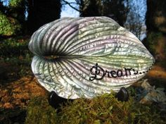 Inspirational hosta leaf casting made from a by LucasLeafCreations, $50.00