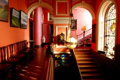 Hilton Park House Stately Home accommodation Monaghan Manor House Hotel, Manor Houses, Indoor Slides, Country House Hotels, Park Homes, Big Houses, Downton Abbey, Historic Homes, Stairways