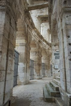 Visitors can wander though the corridors at the #Arles #Amphitheatre http://mikestravelguide.com/things-to-do-in-arles-visit-the-roman-amphitheatre-arenes-darles/ #ttot #travel #roman