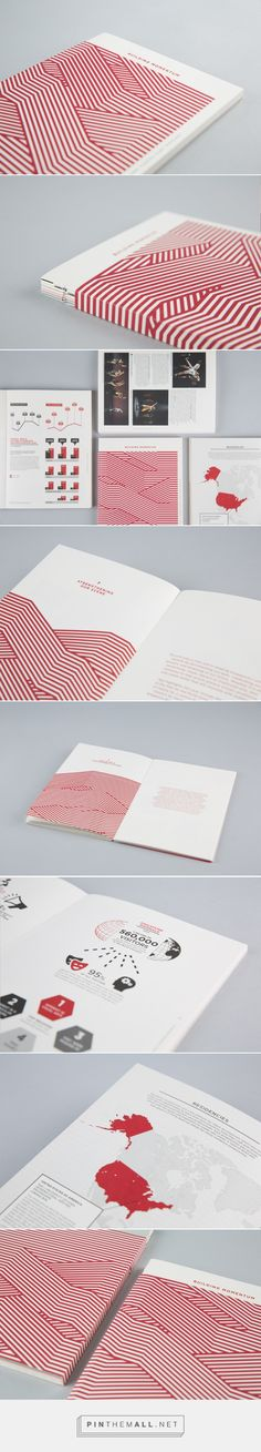 Using a cover smaller than the pages of the book itself, this annual report with an exposed spine conveys vibrant transparency and a dynamic dedication to craftsmanship.