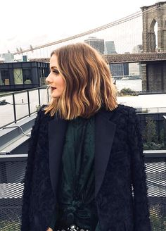 Pinterest: DEBORAHPRAHA ♥️ Olivia palermo short hair and ombre blonde hair color