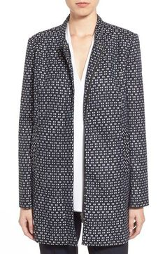 Halogen® Textured Front Zip Topper available at #Nordstrom