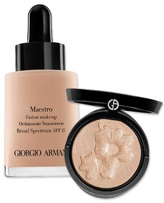 The Best Products For a Makeup-Free Look - Giorgio Armani Maestro Foundation and Belladonna Highlighter from #InStyle