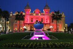 Monte-Carlo Casino  Monaco lit up in pink in support