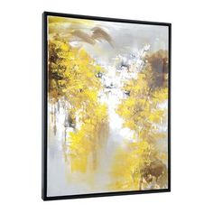 Images 2000 N2273 Yellow Trees Framed Art