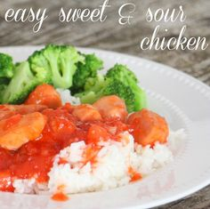 Make this easy sweet & sour chicken in about ten minutes with only three ingredients. Super fast and delicious!