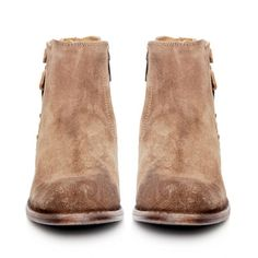 H by Hudson Suede Encke Boots (3,655 MXN) ❤ liked on Polyvore featuring shoes, boots, ankle booties, booties, botas, short suede boots, suede boots, suede ankle bootie, cuban heel boots and buckle ankle boots