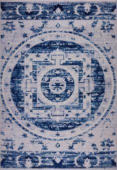 Kahina Traditional Botanical Style Sustainable Innovative Mat Carpet in Blue Beige Carpet, Diy Carpet, Blue Carpet Bedroom, Big Rugs, Newcastle Nsw, Polypropylene Rugs, Cheap Carpet Runners, Carpet Design, Gray Background