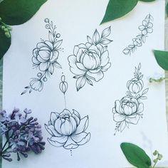 """4,204 Me gusta, 24 comentarios - Tattoo Artist (@anna_bravo_) en Instagram: """"Девчули, 22 и 23 мая любая композиция из этих цветочков будет стоить всего 5000. Пишите в вк)…"""""""