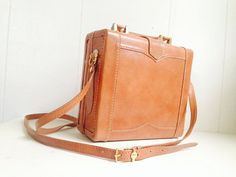 Genuine Leather Bag  Box Case Camera Bag by AmericanProspecting, $32.00