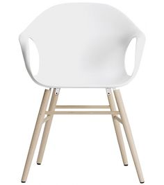 Elephant by Kristalia is a  wooden leg chair made with solid beech legs with the shell of the chair in plastic. A Scandinavian design, this chair is in keeping with their taste for fresh minimalist shapes and corners, combined with simplicity and colours that both enhance and compliment a room.