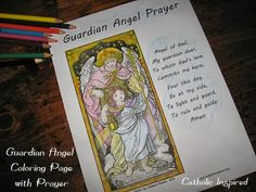 Guardian Angels ~ Printable Page for Kids - Catholic Inspired