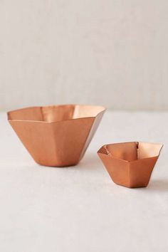 25 Decor Pieces Under $50 to Glam Up Any Room: URBAN OUTFITTERS COPPER GEO CATCH-ALL DISH. From spare change to keys to earrings, any clutter on your countertop can fit in this neat freak's dream. ($12; Urban Outfitters)