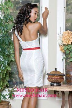 Meylo Hair on fashion designer, Christine king, model.