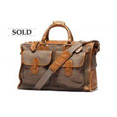 Vintage Luggage | Express No. 2 Grey Twill | Ghurka