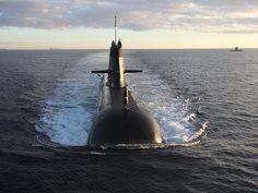 A Royal Australian Navy Collins-class submarine off the West Australian coast.