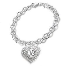 Official JUSTIN BIEBER Girls Crystal Moziaque HEART BRACELET Gift: Amazon.co.uk: Clothing