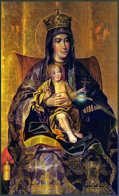 Theotokos and The Child, the late 17th century Russian icon by Karp Zolotaryov