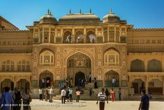 Amer Fort 011: The Ganesh Pol was built in the honor of Mughal Emperors. Amer Fort, Rajasthan India, Ganesh, Emperor, Taj Mahal, Louvre, Building, Photography, Travel