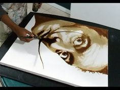 Image result for pintura con cafe