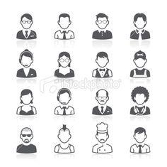 Business people avatar icons. Vector illustration ロイヤリティフリー ストック ベクターアートとイラスト