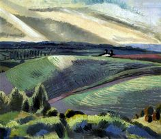 Paul Nash. Cotswold hills