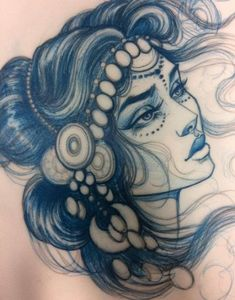 For caitlin girl face drawing, drawing stuff, hot tattoos, flash art, pierc Female Face Drawing, Girl Face Drawing, Woman Drawing, Drawing Drawing, Drawing Stuff, Hot Tattoos, Girl Tattoos, Face Tattoos For Women, Dress Plus Size