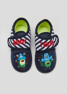 94689778061 Kids Pirate Monster Co-Ord Slippers (Younger 4-12)