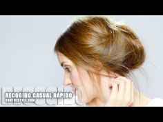 ▶ Recogido de pelo Casual Rápido y Fácil - YouTube.  Quick, easy and casual hair Collected. Coiffure rapide et facile des cheveux. Contolstyle. Bagatelle Marta Esparza https://www.facebook.com/bagatelleoficial #recogido #cabello #moño