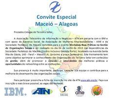 Alavanca Social ministrará workshop em Maceió-AL.  Melhores Práticas no Terceiro Setor!