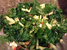 Kale and Apple Salad with Feta and Walnuts | Joy Bowen 21 Day Fix Approved!