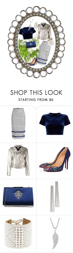 """""""Waiting For Spring"""" by jeanstapley ❤ liked on Polyvore featuring Roland Mouret, RED Valentino, Christian Louboutin, Badgley Mischka and Marc Jacobs"""