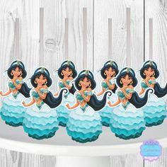 Mermaid Cake Pops, Little Mermaid Cakes, Ariel The Little Mermaid, Cinderella Cake Pops, Aladdin Cake, Aladdin Party, Princess Jasmine Cake, Jasmin Party, Disney Princess Birthday