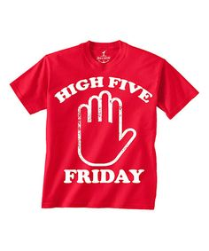 This Red 'High Five Friday' Tee - Toddler & Boys by Skip N' Whistle is perfect! #zulilyfinds