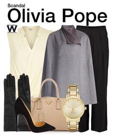"""""""Scandal"""" by wearwhatyouwatch ❤ liked on Polyvore featuring Parker, River Island, Joseph, Prada, Lanvin, Christian Louboutin, Kate Spade, women's clothing, women and female"""