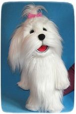 Bobby the Dog. (for sale) How To Draw Sonic, Puppets For Sale, Professional Puppets, Types Of Puppets, Custom Puppets, Sock Puppets, Puppet Making, Maltese Dogs, Hound Dog