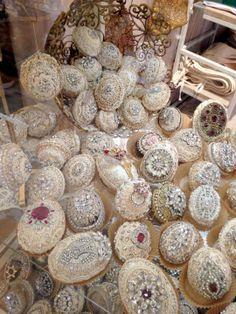 "Pasimenterie Ornaments an heirloom ""token of love"" By Jill Garber at lenouveaurose.com"