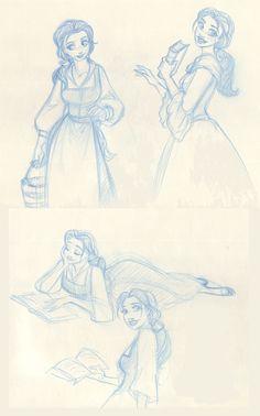 Belle sketches II by TaijaVigilia.deviantart.com on @deviantART