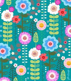 Floral Print by Jill McDonald Design