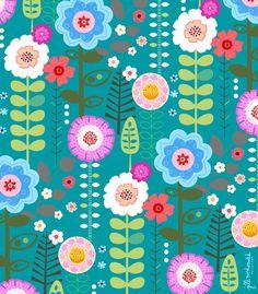 .Floral Print by Jill McDonald Design.