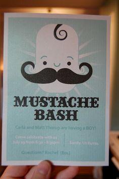 mustache baby shower - Bing Images