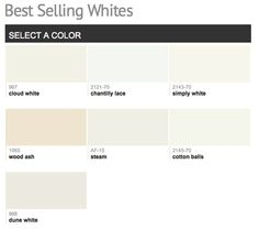 1000 images about paint colors on pinterest benjamin for Top selling neutral paint colors