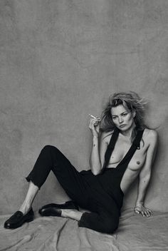 visual optimism; fashion editorials, shows, campaigns & more!: kate moss by peter lindbergh for vogue italia january 2015