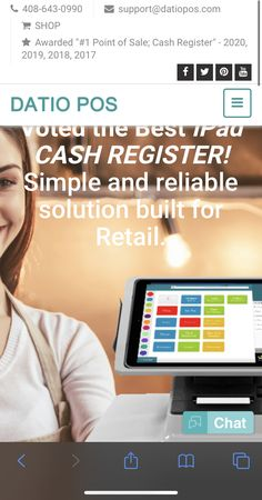 Datio POS is the top iPad Cash Register for Retail and Restaurant! Our cash register is easy to use complete solution for Apple iPads. Choose Datio POS for quick and reliable point of sale products. Point Of Sale, Cash Register, Pos, Deli, Counter, Restaurant, Store, Kitchen, Cooking