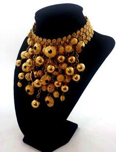 Vintage BIJOUX ELFE Necklace Choker Collar by GalleryThreeSixty