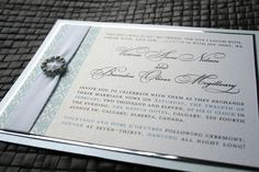 Crystal Buckle Wedding Invitation Invites, Wedding Invitations, Vows, Special Events, Stationary, Photo Galleries, Wedding Day, Crystals, Simple